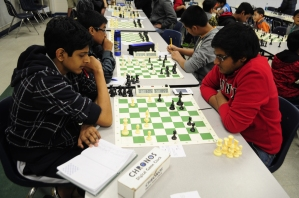A heated chess game at the DreamPlay 2013.